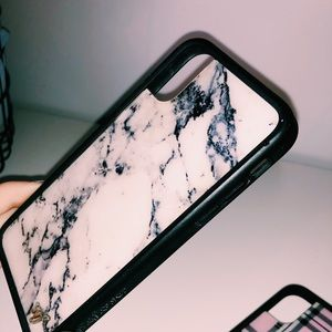 Marble Wildflower Case- IPhone X